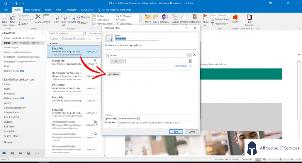How to quick parts in outlook feature