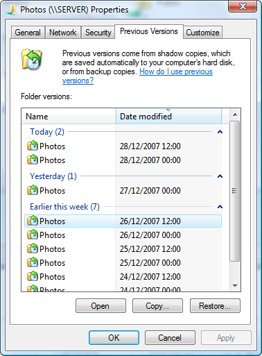 005-shared drive previous versions